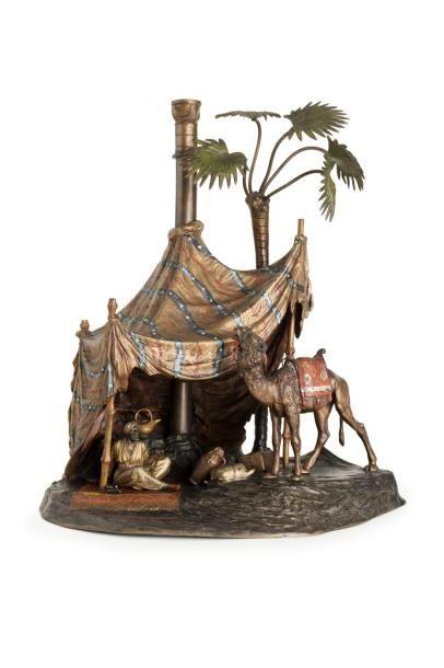 Bronze de Vienne  Halte sous la tente  Exceptionnel...