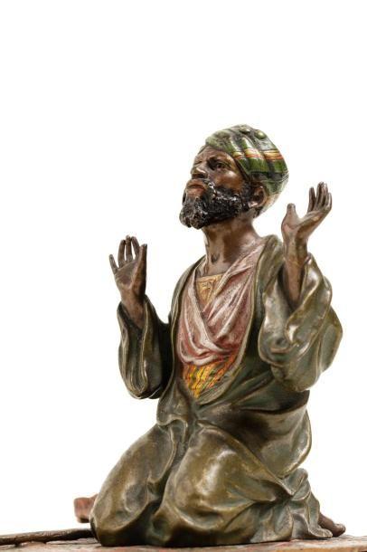 Franz BERGMAN (1838-1894)  Arabe en prière...