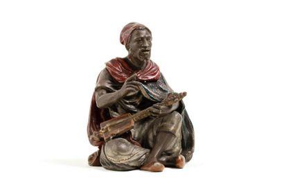 Bronze Orientaliste  Joueur de