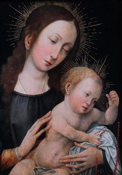 Ecole BRUGEOISE vers 1510 Vierge à l'enfant...