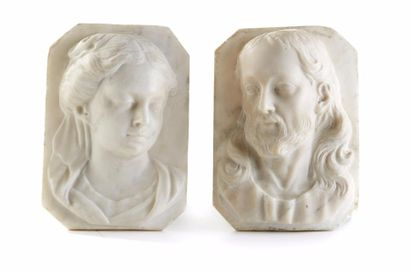 Le Christ et la Vierge (ou Marie Madeleine)...