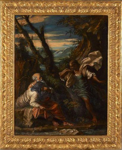 Attribué à Salvator ROSA  (1615 – 1673)  L'Ange...