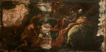 Ecole NAPOLITAINE du XVIIème siècle  La Conversion...