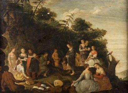 Ecole HOLLANDAISE du XVIIème siècle  La joute...