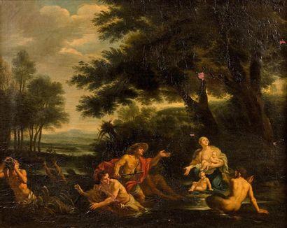 Attribué à Filippo LAURI  (1623 – 1694)  Latone...