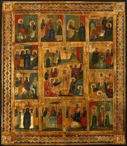 La Résurrection et douze fêtes liturgiques...