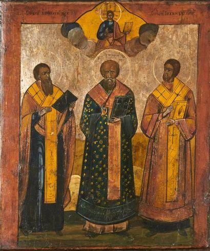 Trois Pères de l'Église  Les saints Basil,...