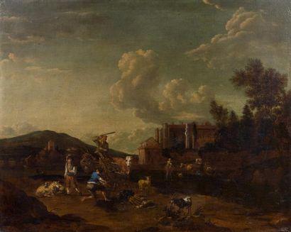 Ecole HOLLANDAISE du XVIIème siècle, suiveur...