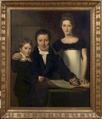 Claude – Marie DUBUFE  (Paris 1790 – La Celle Saint Cloud 1864)  Portrait d'un père...