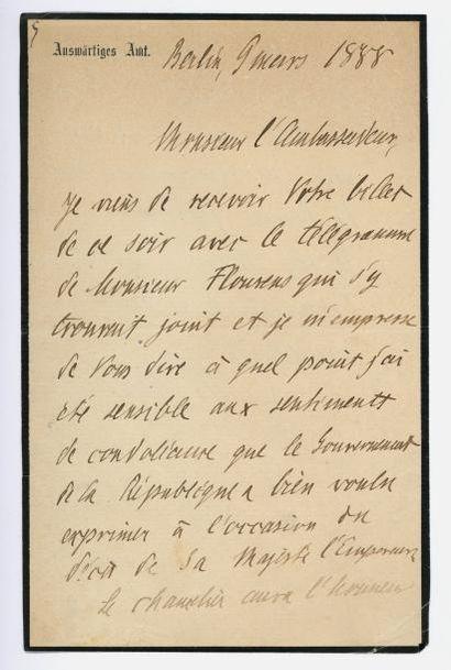 BONNAY (Charles-François Marquis de). L.A.S....