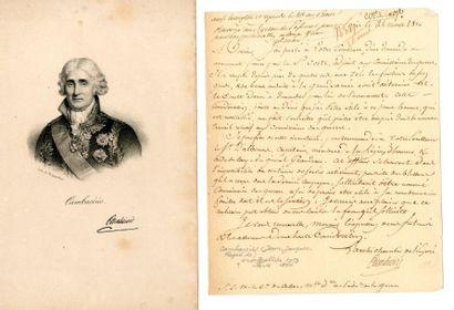 CAMBACERES (Jean-Jacques Régis de, 1753 –...