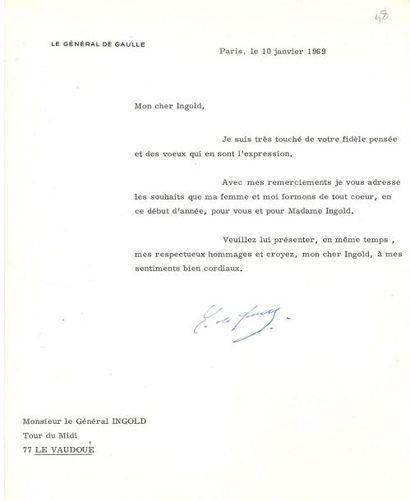 DE GAULLE (Charles). L.T.S.