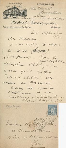 DOUGLAS (Alfred, amant d'Oscar Wilde). L.A.S.,...
