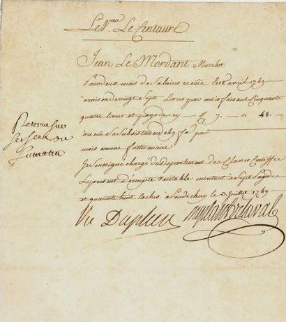 DUPLEIX (Joseph François). P.S.