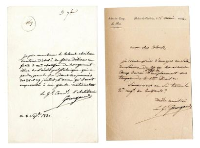 GOURGAUD (Baron Gaspard, 1783-1852). Lettre...