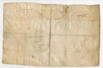 HENRI IV. Pièce manuscrite signée