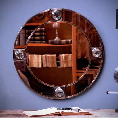 Miroir rond à loupe