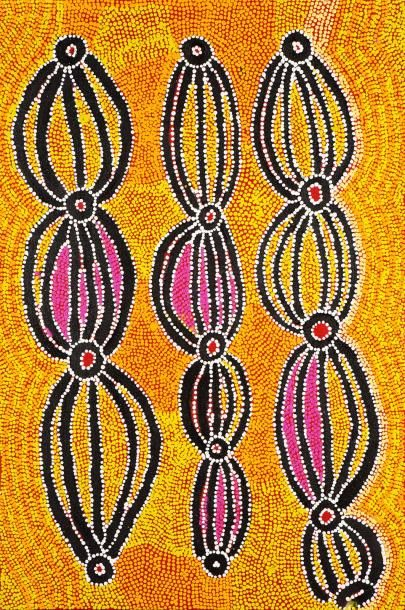 Liddy Walker Napanangka (c. 1925 - )  Dogwood...