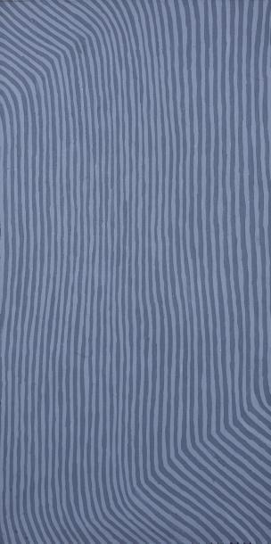 George Tjungurrayi (c. 1947 - )  Sans titre, 1998  Acrylique sur toile - 91 x 46...