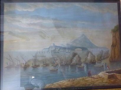 Ecole ITALIENNE du XIX-XXème siècle  Veduta...