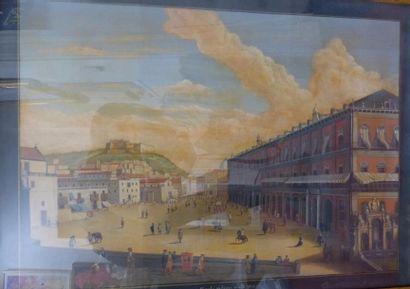 Ecole ITALIENNE du XIXème siècle  Vue du...