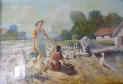 Leopoldo GALEOTA (1868-1938)  Les gardiennes...
