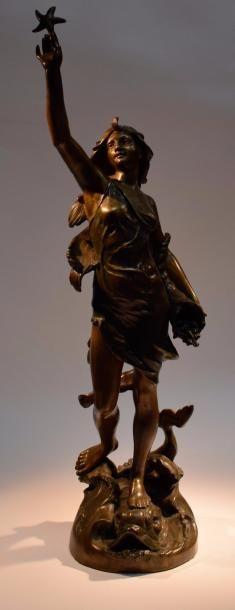 CAPPELARGE  Sculpture en bronze à patine...