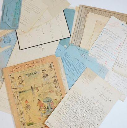 [Toulouse]. Nombreuses pièces, notes, documents...