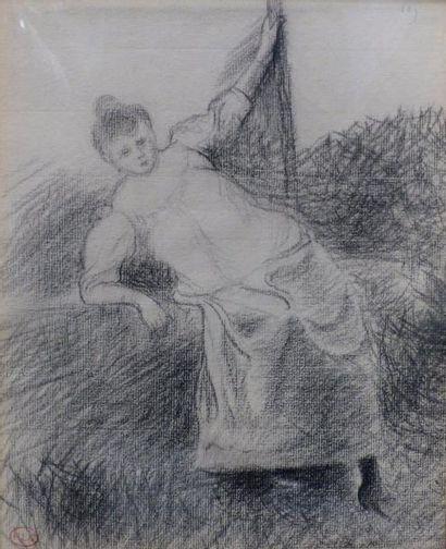 Henri Edmond CROSS (1856-1910)  Paysanne...