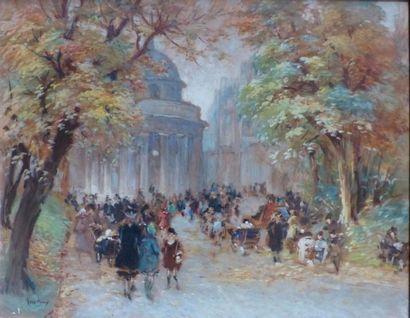 FRED-MONEY (1882-1956)  Balade dans un parc...