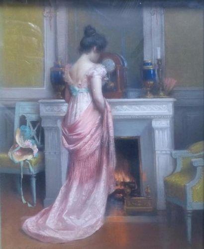 Delphin ENJOLRAS (1857-1945)  Femme devant...