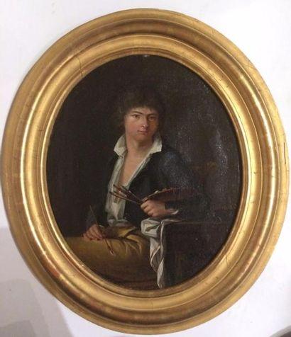 Ecole Française XIXème Portrait d'un peintre...
