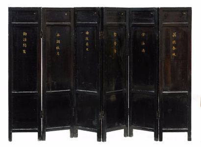 CHINE – Dynastie Qing, Epoque XVIIIème siècle, Période Kangxi    Paravent à hauteur...