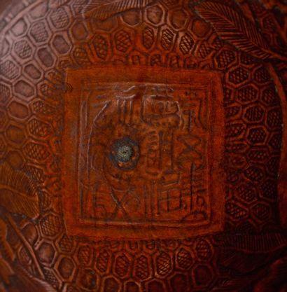 CHINE – Dynastie Qing, Epoque XVIII - XIXème siècle    Boîte à criquets en bois...