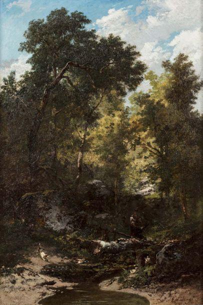 Louis BOULANGE (Versy 1812 - 1878)  Bûcheron...