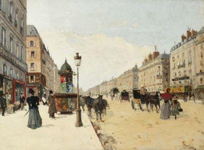 Jules PETILLON (1845 - 1899)  Paris, la rue...