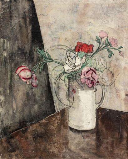 Micao KONO (1876 - 1954)  Bouquet  Huile...
