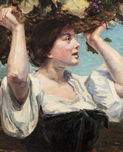 J. BOUCHAUD (Actif à la fin du XIX ème siècle et au début du XXème siècle)  Femme...