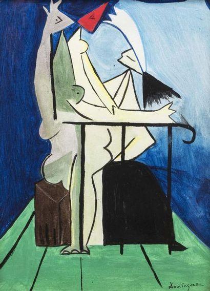 Oscar DOMINGUEZ (Laguna 1906 - Paris 1957)...