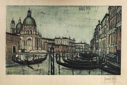 Bernard BUFFET (1928 - 1999)  Grand canal,...