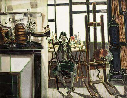 Claude VENARD (Paris 1913 - 1999)  L'atelier...