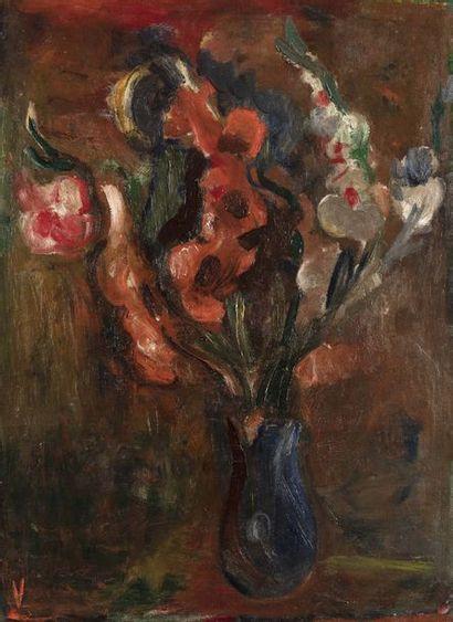 Bram VAN VELDE (1895 - 1981)  Bouquet  Huile...