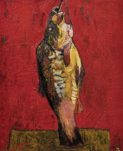 Bernard LORJOU (1908 - 1986)  Le poisson...