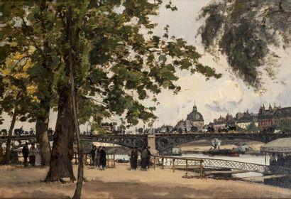 Paul LECOMTE (Paris 1842 - 1920)  Bord de...