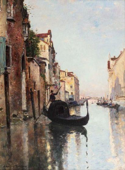 Maurice BOMPARD (Rodez 1857 - 1936)  Gondolier...