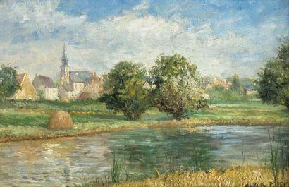 Albert DUBOIS- PILLET (Paris 1846 - Le Puy en Velay 1890)  Village de Seur, dans...