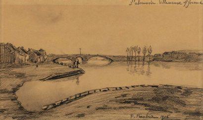 Francis PICABIA (Paris 1879 - 1953)  L'abreuvoir,...