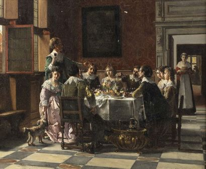 Franz MOORMANS (Rotterdam 1832 - Paris 1893)...