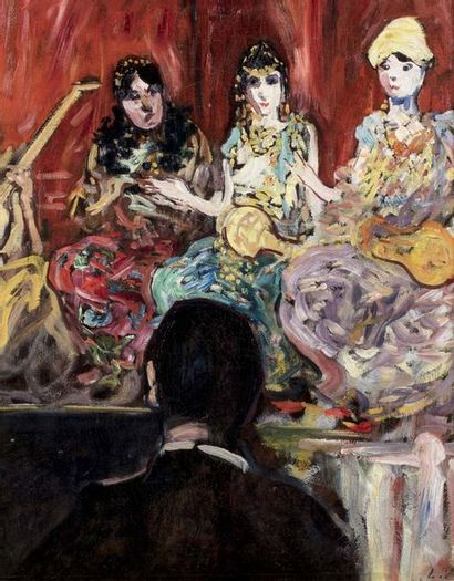 Louis VALTAT (Dieppe 1869 - Paris 1952)  L'orchestre...