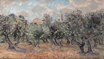 André HAMBOURG (Paris 1909 - 1999)  Oliviers...